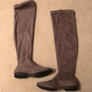 Lauren Conrad Taupe OTK Boots